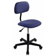 Кресло БЮРОКРАТ CH-1201, на колесиках, ткань, темно-синий [ch-1201nx/purple]