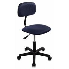 Кресло БЮРОКРАТ CH-1201, на колесиках, ткань, темно-синий/черный [ch-1201nx/bl&blue]