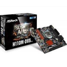 Материнская плата ASROCK H110M-DVS R3.0, LGA 1151, Intel H110, mATX, Ret