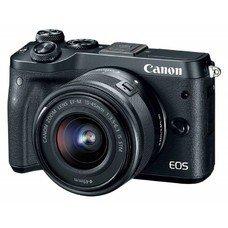 Фотоаппарат CANON EOS M6 kit ( 15-45 IS STM f/ 3.5-6.3), черный [1724c012]