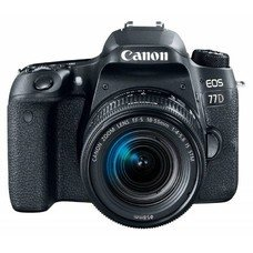 Зеркальный фотоаппарат CANON EOS 77D kit ( EF-S 18-55mm f/4-5.6 IS STM), черный