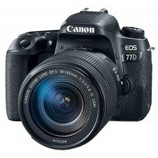 Зеркальный фотоаппарат CANON EOS 77D kit ( EF-S 18-135mm f/3.5-5.6 IS USM), черный