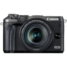 Фотоаппарат CANON EOS M6 kit ( 18-150 IS STM f/ 3.5-6.3), черный [1724c022]