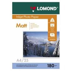 Фотобумага Lomond 0102037 A4/180г/м2/25л./белый матовое для струйной печати
