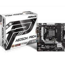 Материнская плата Asrock AB350M PRO4 Soc-AM4 AMD B350 4xDDR4 mATX AC`97 8ch(7.1) GbLAN RAID+VGA+DVI+HDMI