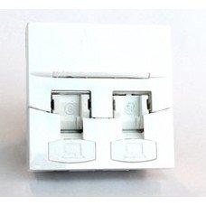 Вставка 3M (7000079332) прямая 45x45 2xKeystone ПВХ белый