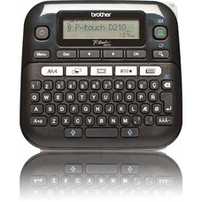 Принтер Brother P-touch PT-D210VP стационарный черный [ptd210vpr1]
