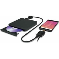 Оптический привод DVD-RW LG GP95, внешний, SATA, черный, RTL [gp95nb70]