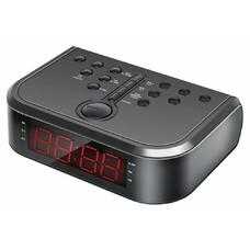 Радиобудильник HYUNDAI H-RCL120, красная подсветка, черный