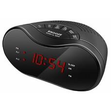 Радиобудильник HYUNDAI H-RCL160, красная подсветка, черный