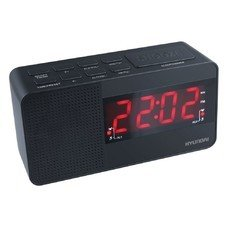 Радиобудильник HYUNDAI H-RCL200, красная подсветка, черный