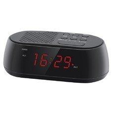 Радиобудильник HYUNDAI H-RCL210, красная подсветка, черный