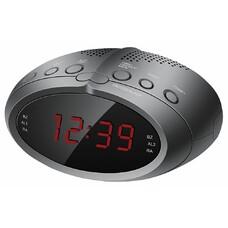 Радиобудильник HYUNDAI H-RCL220, красная подсветка, черный