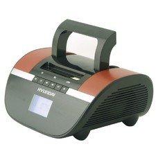 Аудиомагнитола HYUNDAI H-PAS240, черный и коричневый