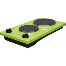 Электрическая плита ЛЫСЬВА ЭПБ 22, эмаль, зеленый