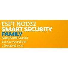 ПО Eset NOD32 Smart Security Family 3 устройства 1 год Card (NOD32-ESM-NS(CLCARD)-1-3)