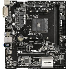 Материнская плата Asrock A320M-DGS Soc-AM4 AMD A320 2xDDR4 mATX AC`97 8ch(7.1) GbLAN RAID+DVI