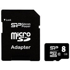 Флеш карта microSDHC 8Gb Class10 Silicon Power SP008GBSTHBU1V10 Elite + adapter