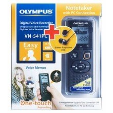Диктофон OLYMPUS VN-541PC + E39 Earphones 4 Gb, черный