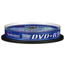 Оптический диск DVD+R VERBATIM 4.7Гб 16x, 10шт., cake box [43498]