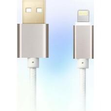 Кабель GINZZU Lightning - USB 2.0, 1.0м, белый [gc-555uw]