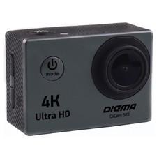 Экшн-камера DIGMA DiCam 385 4K, серый [dc385]