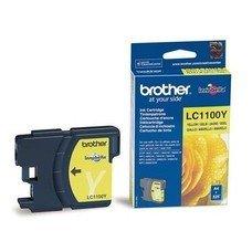 Картридж струйный Brother LC1100Y желтый для Brother DCP-385C/6690CW/MFC-990CW (325стр.)