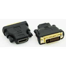 Переходник DVI-D(m)/HDMI (f) черный (ADAPTER DVI-HDMI)