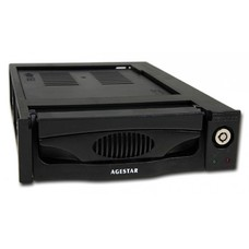 Mobile rack (салазки) для HDD AGESTAR MR3-SATA(SW)-3F, черный [SR3P(SW)-3F BLACK]