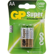 Батарея GP Super Alkaline 15A LR6, 2 шт. AA