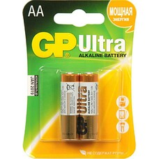 Батарейка GP Ultra Alkaline 15AU LR6, 2 шт. AA