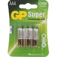 Батарейка GP Super Alkaline 24A LR03, 4 шт. AAA