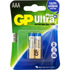 Батарейка GP Ultra Plus Alkaline 24AUP LR03, 2 шт. AAA