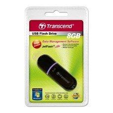 Флешка USB TRANSCEND Jetflash 300 8Гб, USB2.0, черный и фиолетовый [ts8gjf300]