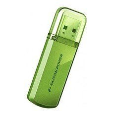 Флешка USB SILICON POWER Helios 101 8Гб, USB2.0, зеленый [sp008gbuf2101v1n]