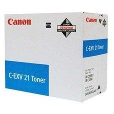 Тонер CANON C-EXV21, для IRC2880/3380/3880, голубой, 260грамм, туба [0453b002]
