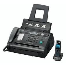Факс PANASONIC KX-FLС418RU, лазерный, черный