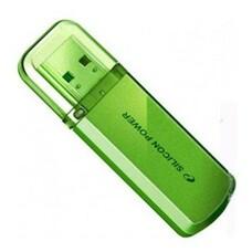 Флешка USB SILICON POWER Helios 101 16Гб, USB2.0, зеленый [sp016gbuf2101v1n]