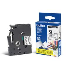 Лента ламинирования Brother TZE211 для P-Touch 6mm черный шрифт на белом фоне