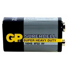 Батарейка GP Supercell 1604S 6F22, 1 шт. 9V