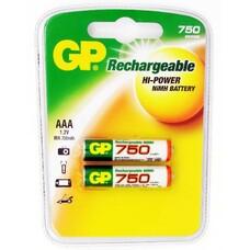 Аккумулятор GP 75AAAHC, 2 шт. AAA, 750мAч