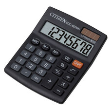 Калькулятор бухгалтерский Citizen SDC-805BN черный 8-разр.