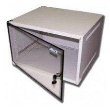 Шкаф коммутационный Lanmaster Lite (TWT-CBWL-6U-6X4 ) 6U 600x450мм пер.дв.стекл несъемн.бок.пан. 30к