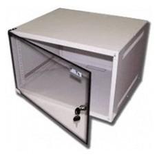 Шкаф коммутационный Lanmaster Lite (TWT-CBWL-9U-6X4 ) 9U 600x450мм пер.дв.стекл несъемн.бок.пан. 30к