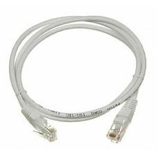 Патч-корд LANMASTER TWT-45-45-2.0-GY литой (molded), UTP, cat.5E, 2м, 1 шт, серый