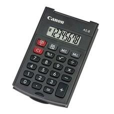 Калькулятор CANON AS-8, 8-разрядный, черный [AS-8 HB]