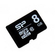 Карта памяти microSDHC SILICON POWER 8 ГБ, Class 10, SP008GBSTH010V10, 1 шт.