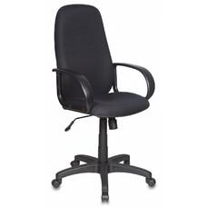 Кресло руководителя БЮРОКРАТ Ch-808AXSN, на колесиках, ткань, черный [ch-808axsn/#black]