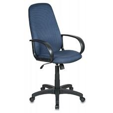 Кресло руководителя БЮРОКРАТ Ch-808AXSN, на колесиках, ткань, темно-синий [ch-808axsn/bl&blue]