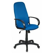 Кресло руководителя БЮРОКРАТ Ch-808AXSN, на колесиках, ткань, синий [ch-808axsn/tw-10]